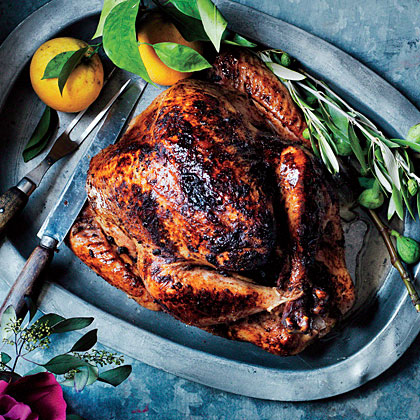 Moroccan-Spiced Turkey with Aromatic Orange Pan Jus