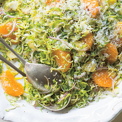 Brussels Sprout Salad with Pecorino and Tangerines