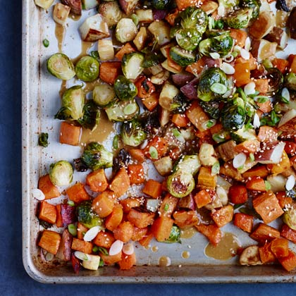 Roasted Winter Vegetables with Miso Vinaigrette