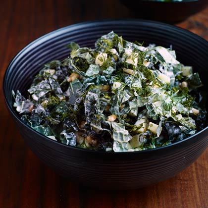 Seven-Green Kale Salad With Buttermilk Dressing