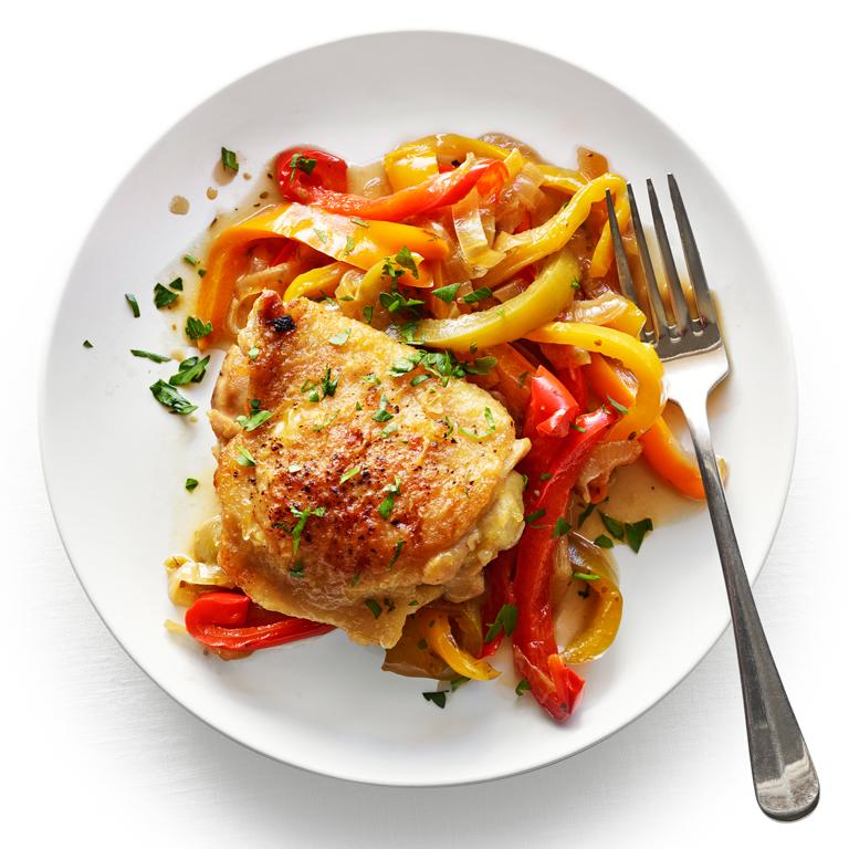 Chicken Thighs Peperonata