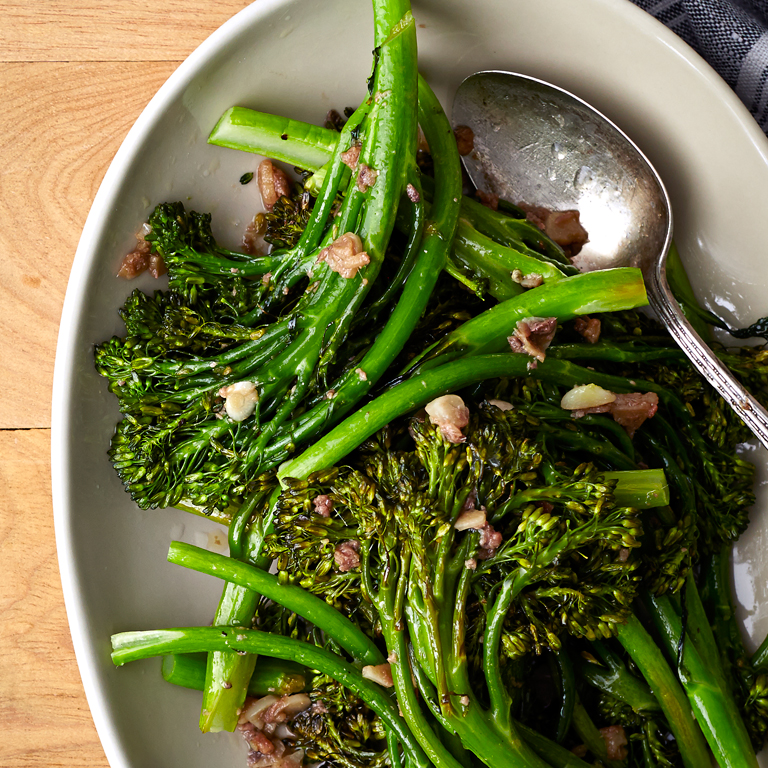 Roasted Broccolini with Anchovy Sauce