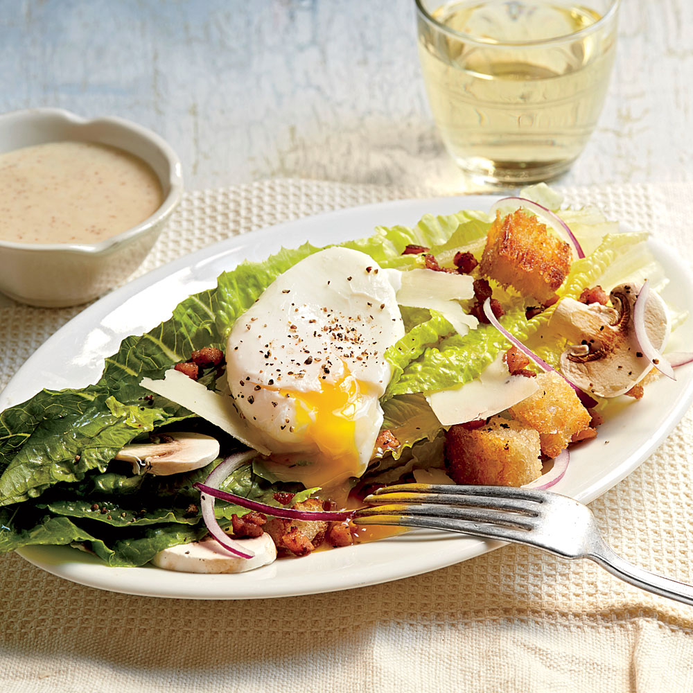 Romaine Salad with Country Ham and Eggs