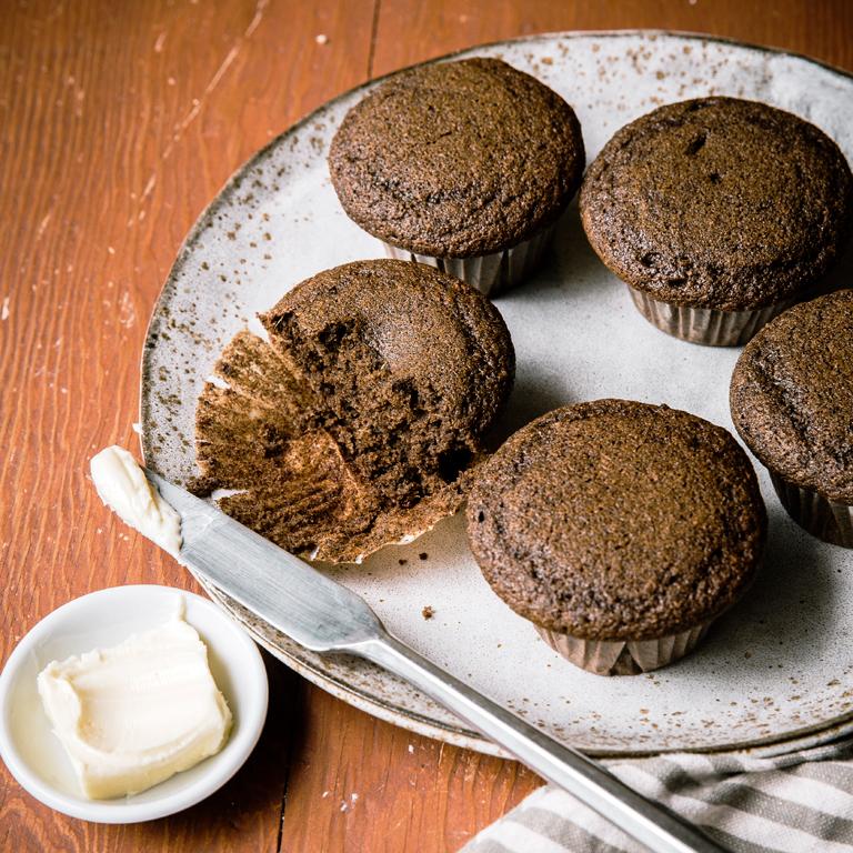 Buckwheat Gingerbread Muffins