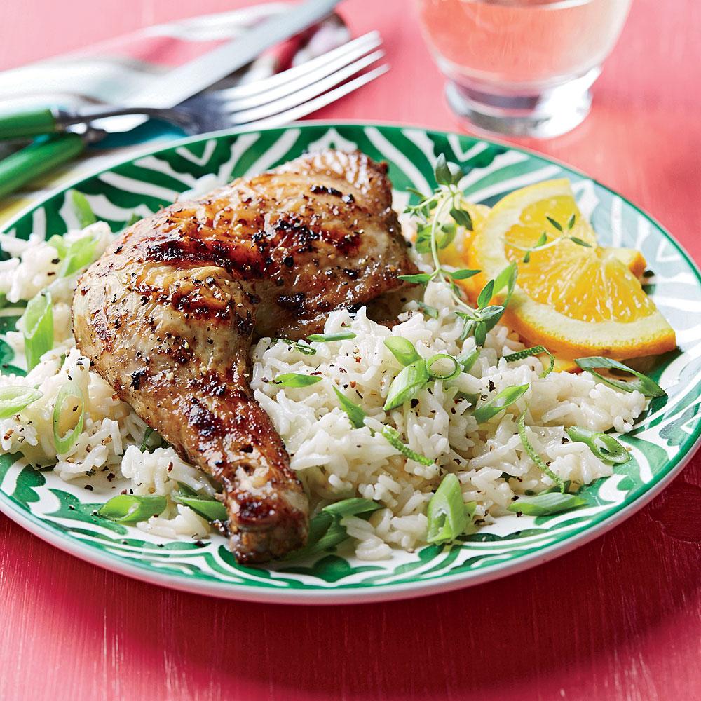 Jerk Chicken with Coconut Rice