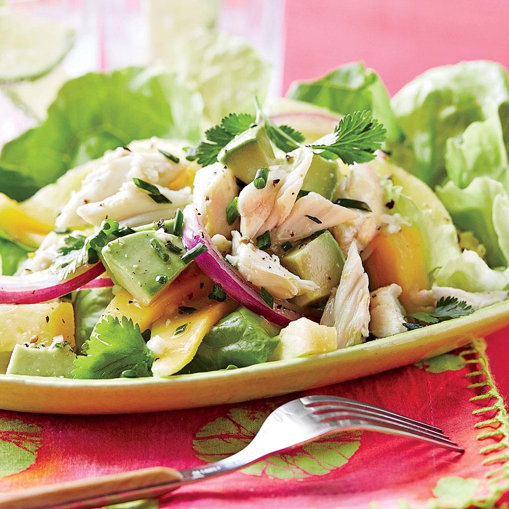 Mango-Pineapple Crab Salad