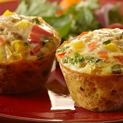 Dulac Dirty Rice Mini Frittatas