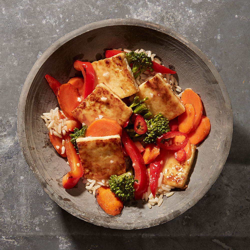 Sweet and Sour Tofu-Vegetable Stir-Fry