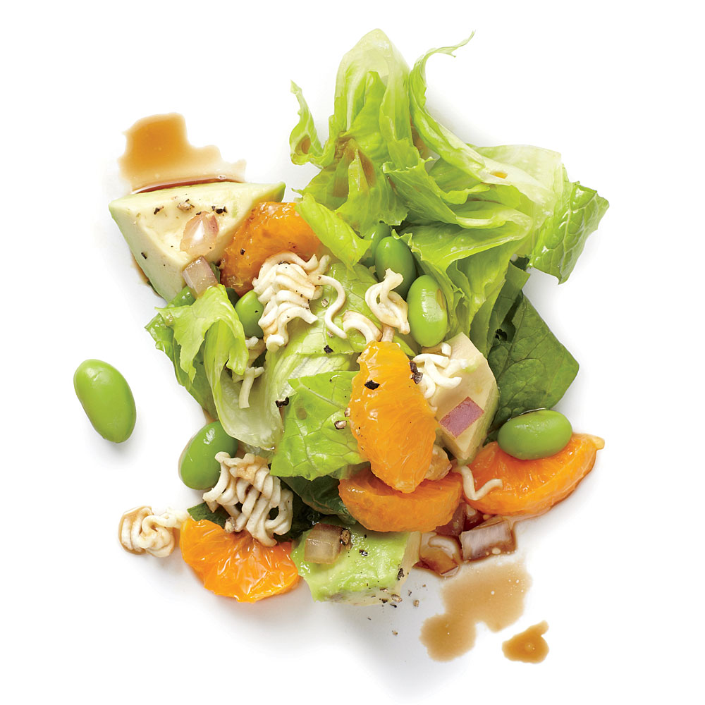 Edamame and Ramen Avocado Salad