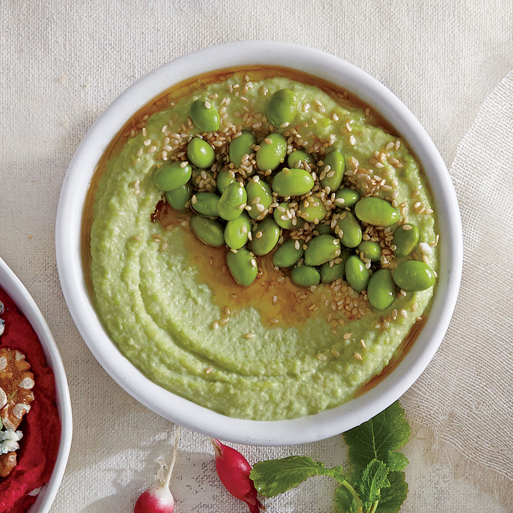 Edamame Hummus with Miso and Sesame
