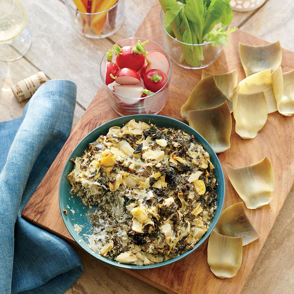 Fresh Artichoke and Kale Dip