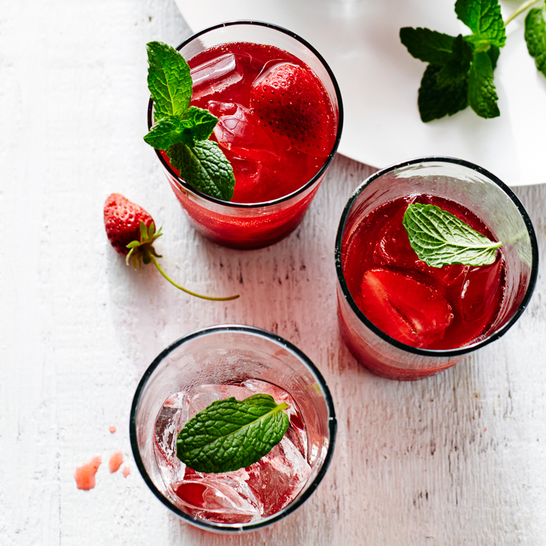 Strawberry Hibiscus Cooler