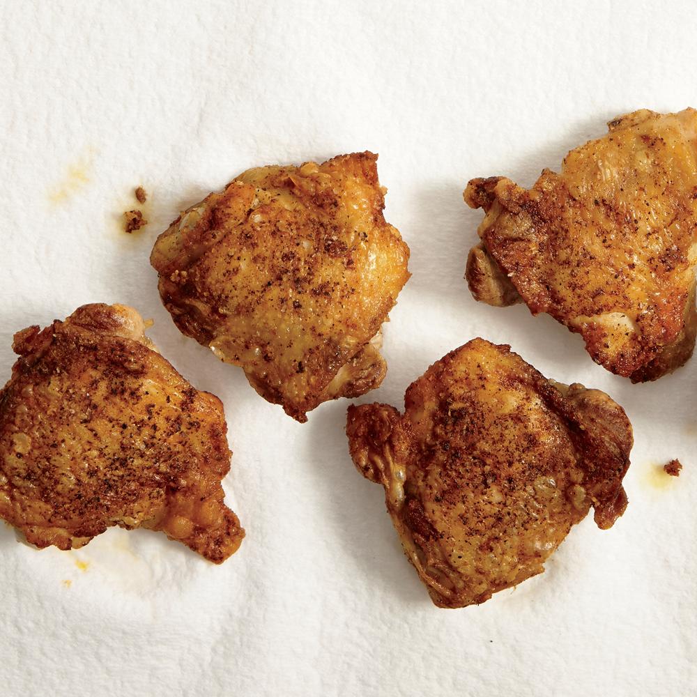 Superfast Crispy Chicken Thighs
