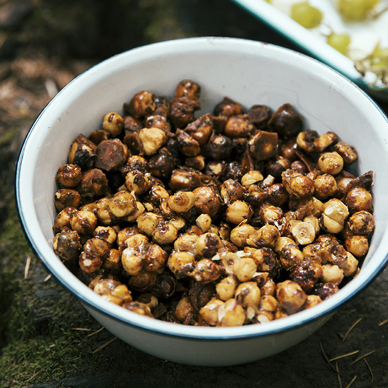 Candied Rosemary Hazelnuts
