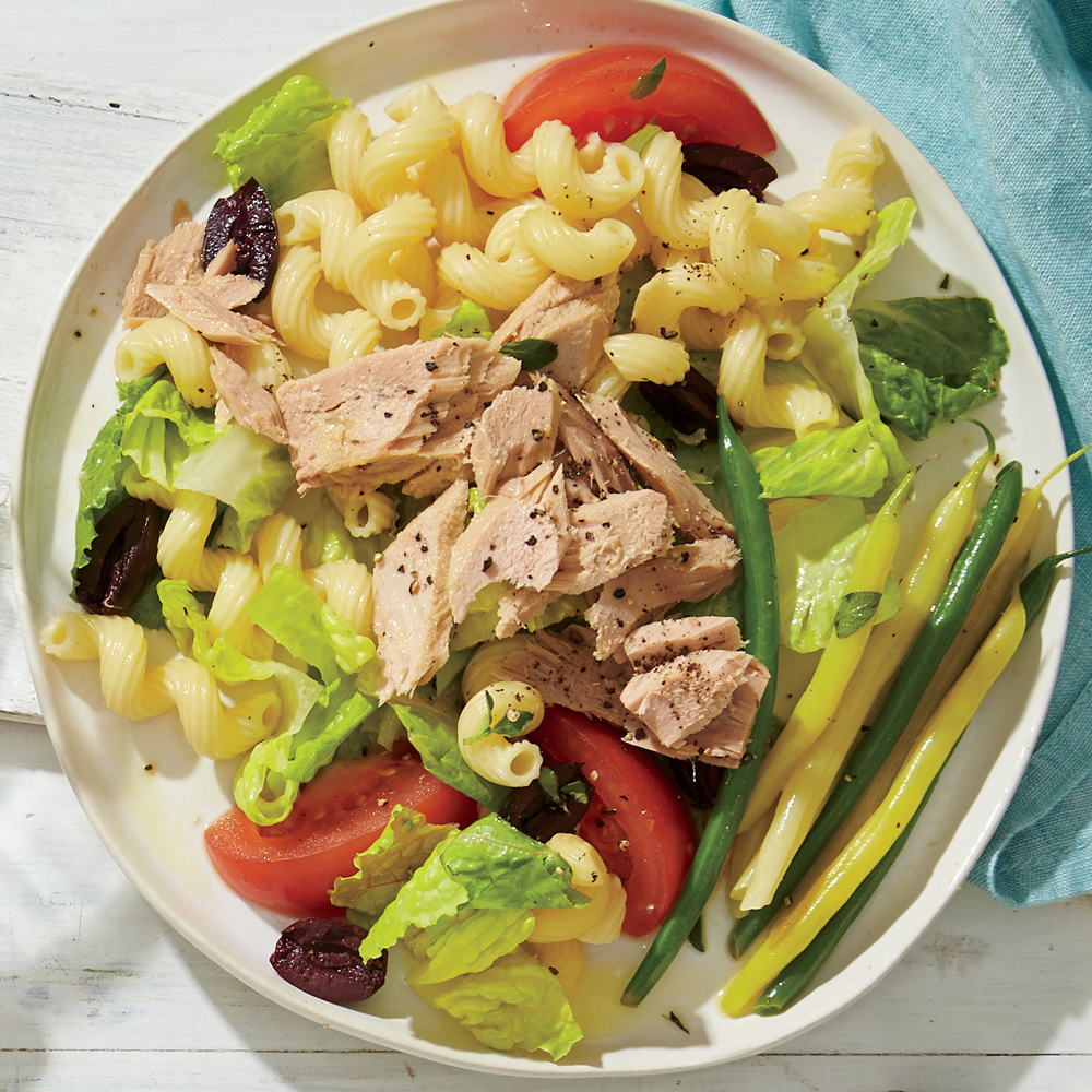 Cavatappi Salad with Tuna and Olives