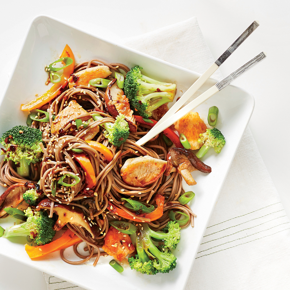 Soba Noodle Salad with Chicken and Broccoli