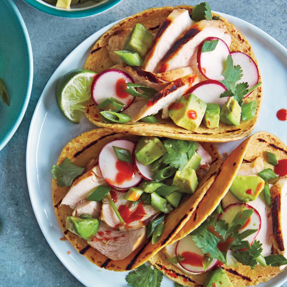 Chicken-Avocado Soft Tacos