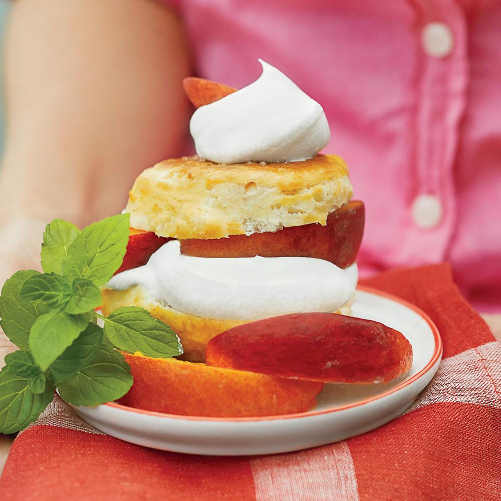 Boozy Peach Shortcakes with Sweet Cream