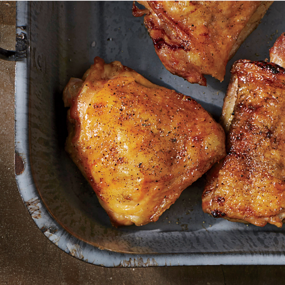 Crispy Salt-and-Pepper Grilled Chicken Thighs