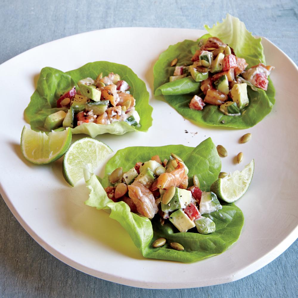 Chipotle Shrimp Lettuce Wraps