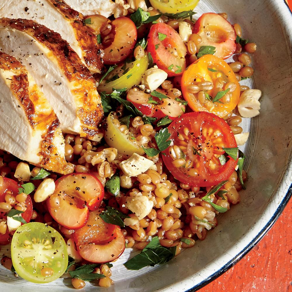 Whole-Grain Kamut and Cherry Salad
