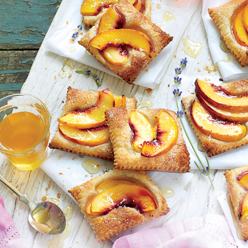 Nectarine Tarts with Honey