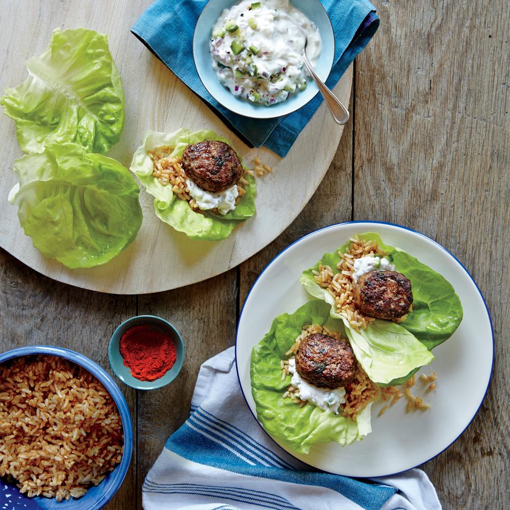 Beef and Lamb Kofta Lettuce Wraps