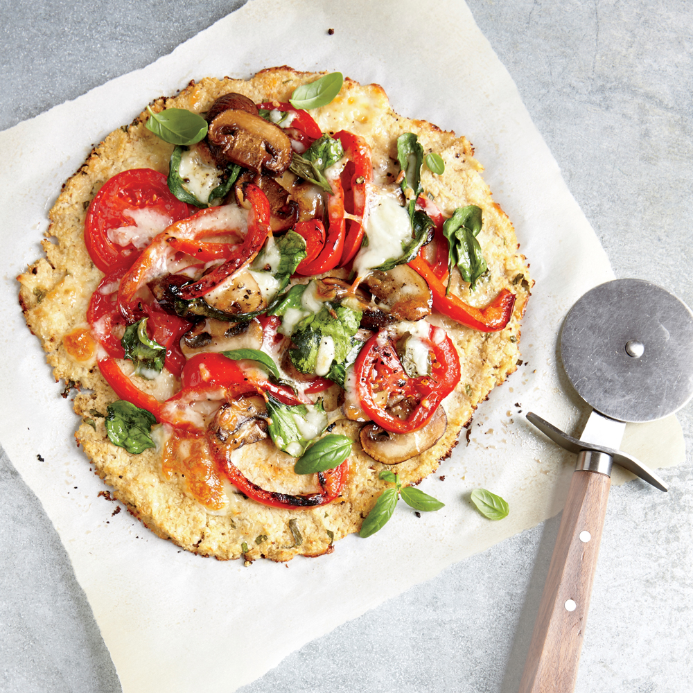 Veggie Pizza with Cauliflower Crust