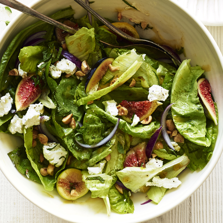 Fig, Hazelnut, and Goat Cheese Salad