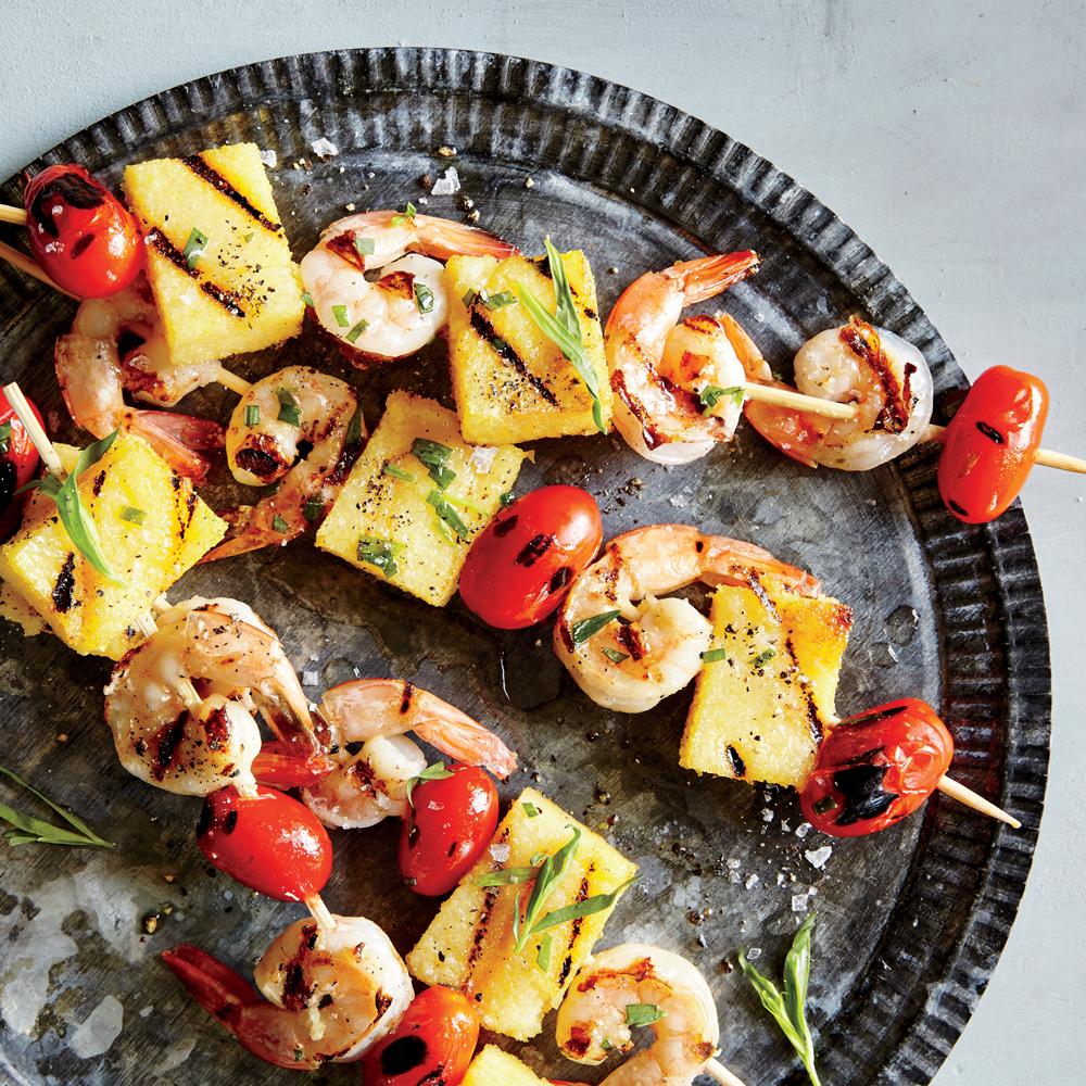 Shrimp 'n' Grits Skewers