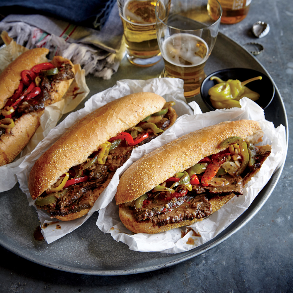 Chicago-Style Italian Beef Hoagies