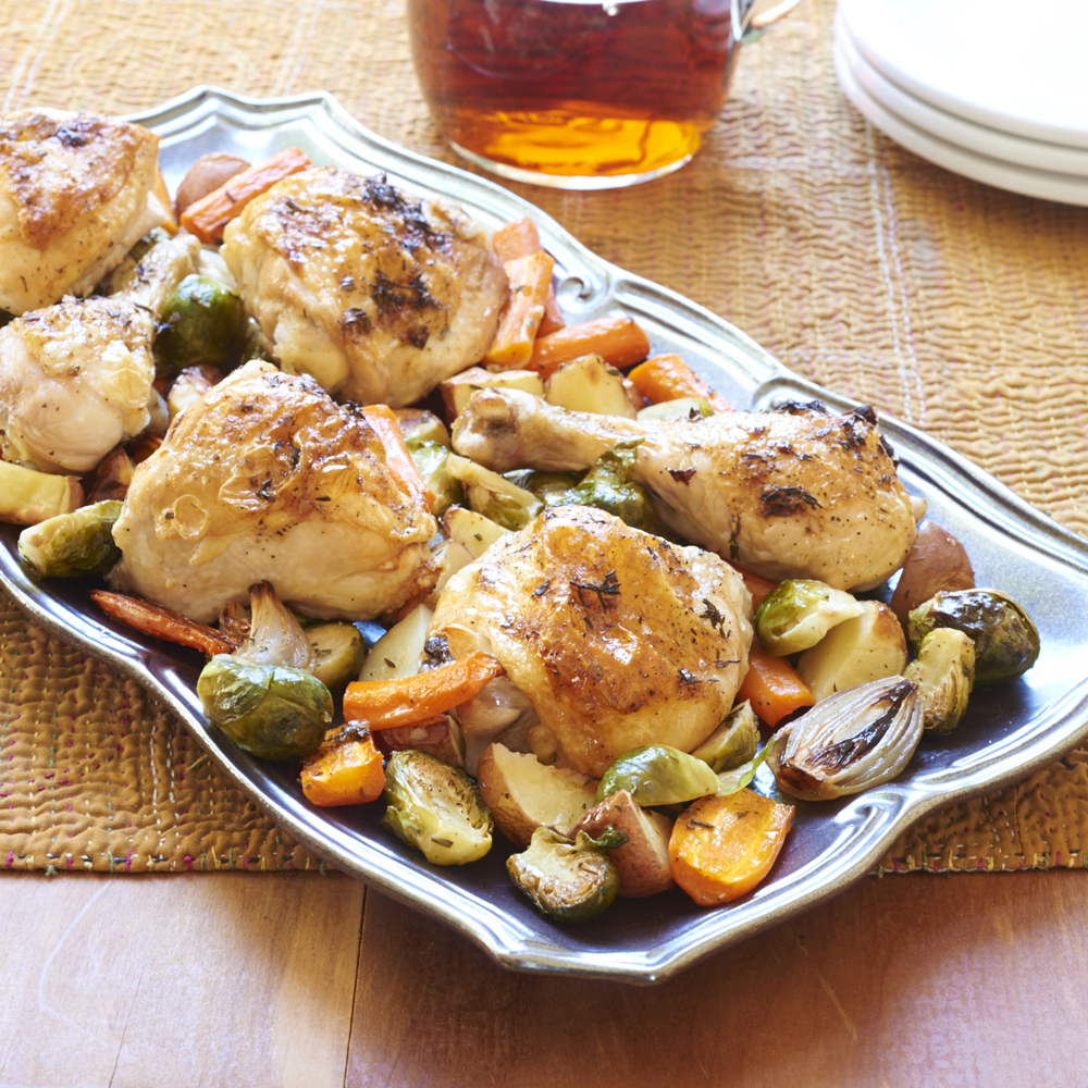 One-Pan Roasted Chicken and Root Vegetables