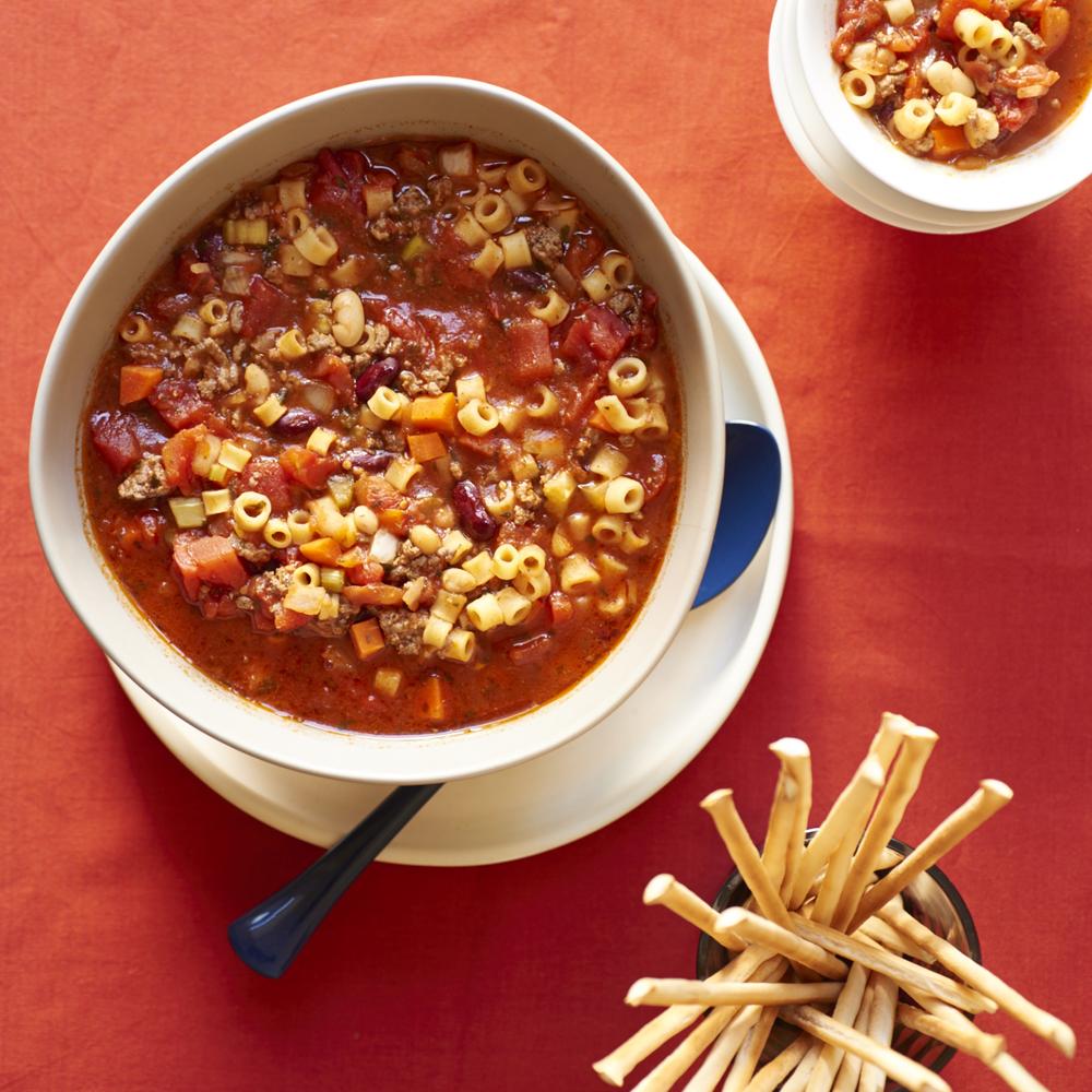 Pasta Fagioli slow cooker crock pot version... just like Olive Garden