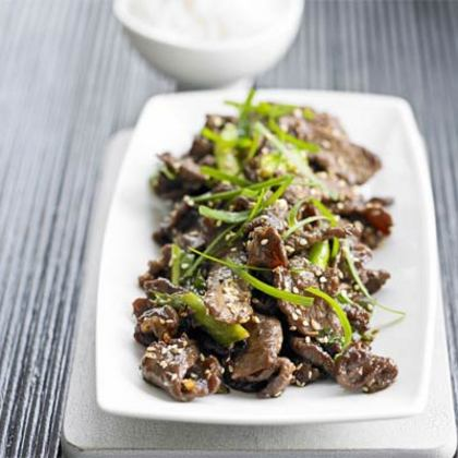 Sizzling Korean-Style Beef with Sesame Seeds