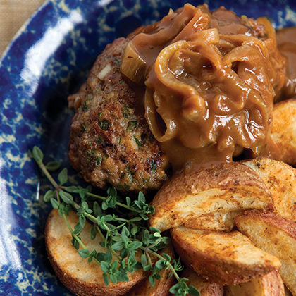 Chopped Steak with Caramelized Onion Gravy