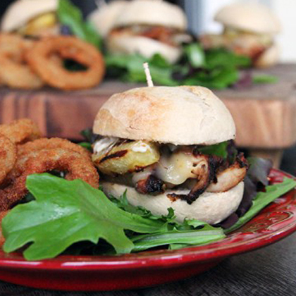 Hawaiian Chicken Sliders with Garlic Mayo