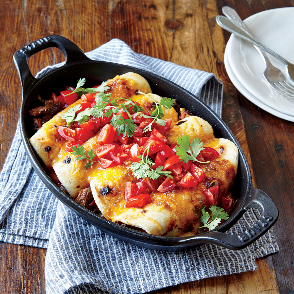 Beef and Cheddar Enchiladas