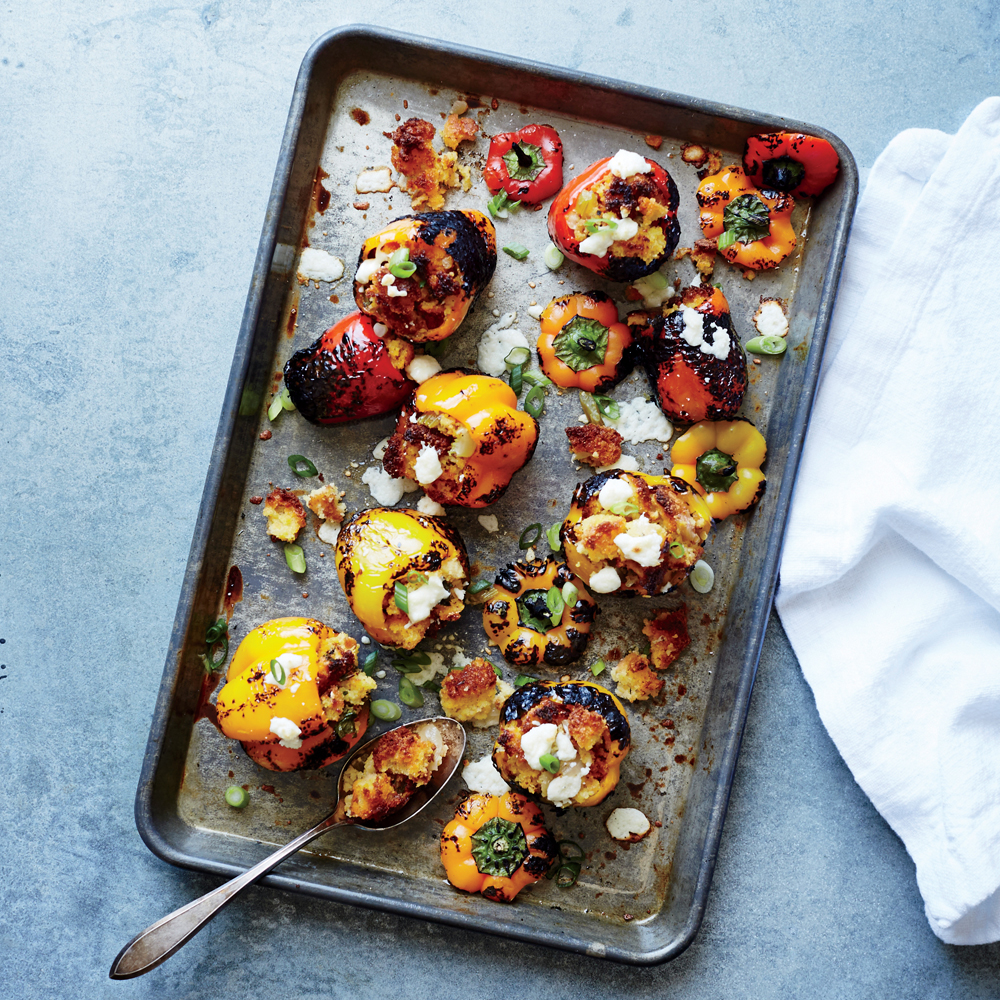 Dressing-Stuffed Mini Peppers