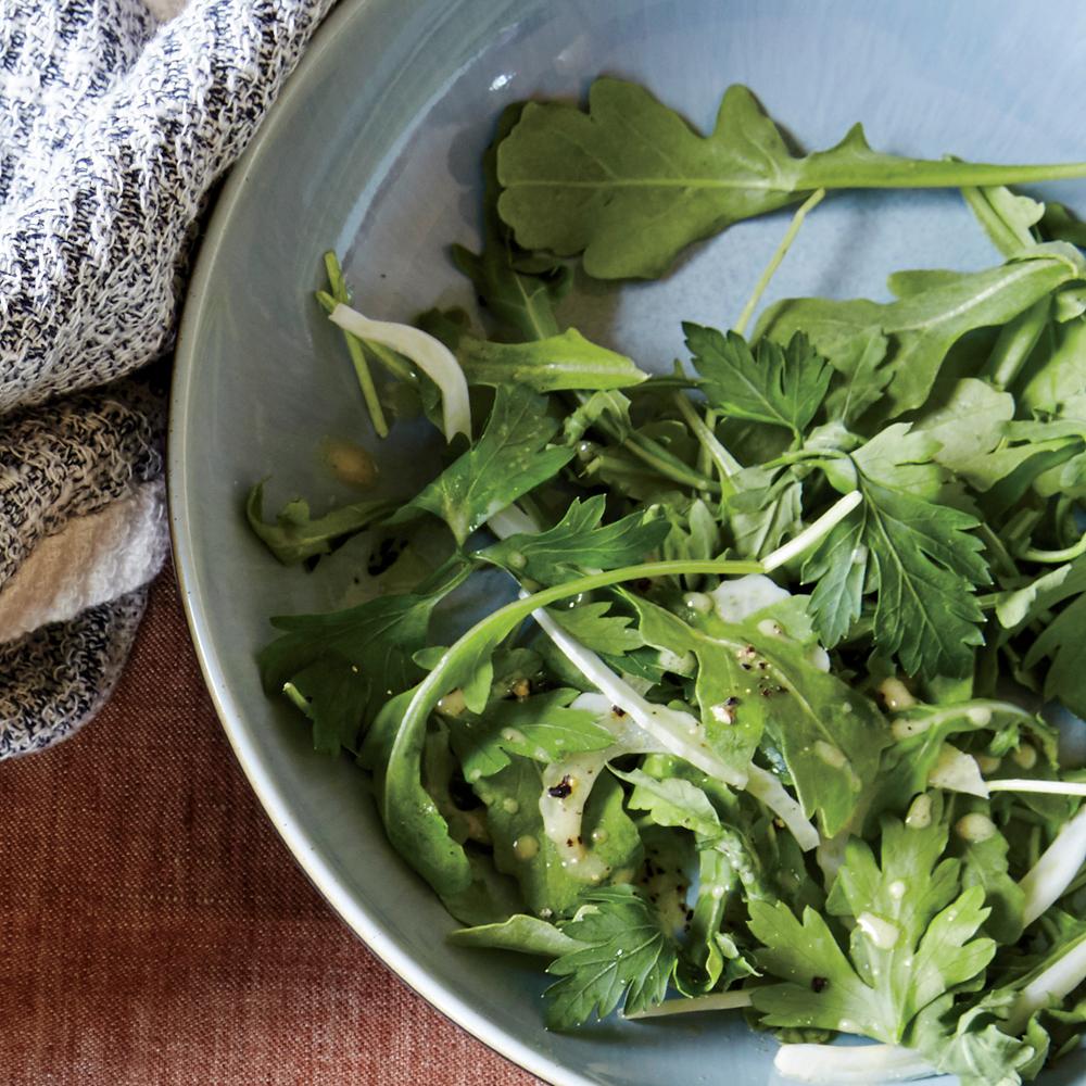 Parsley-Fennel Salad with Mustard Vinaigrette