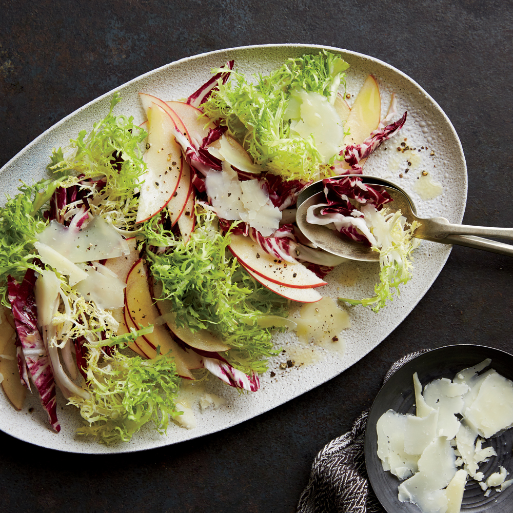 Radicchio, Frisée, Apple, and Manchego Salad