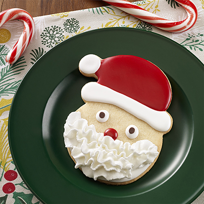 Santa Sugar Cookies