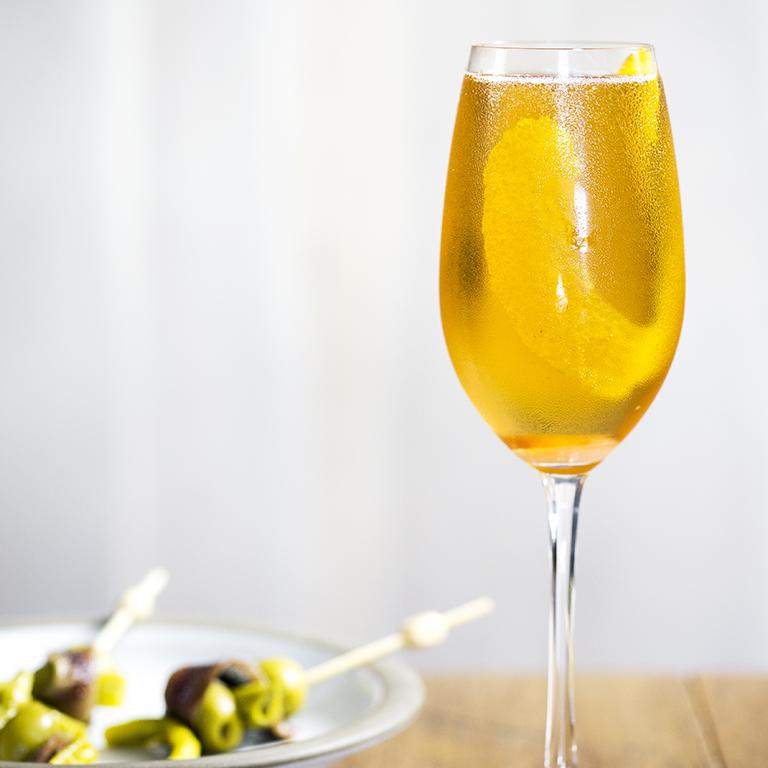 Aatxe Aperitivo (Sparkling Cava Cocktail)