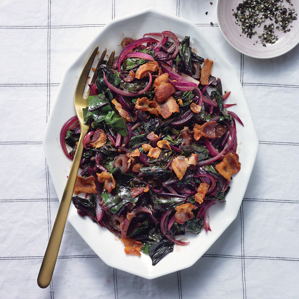 Bacony Beet Greens