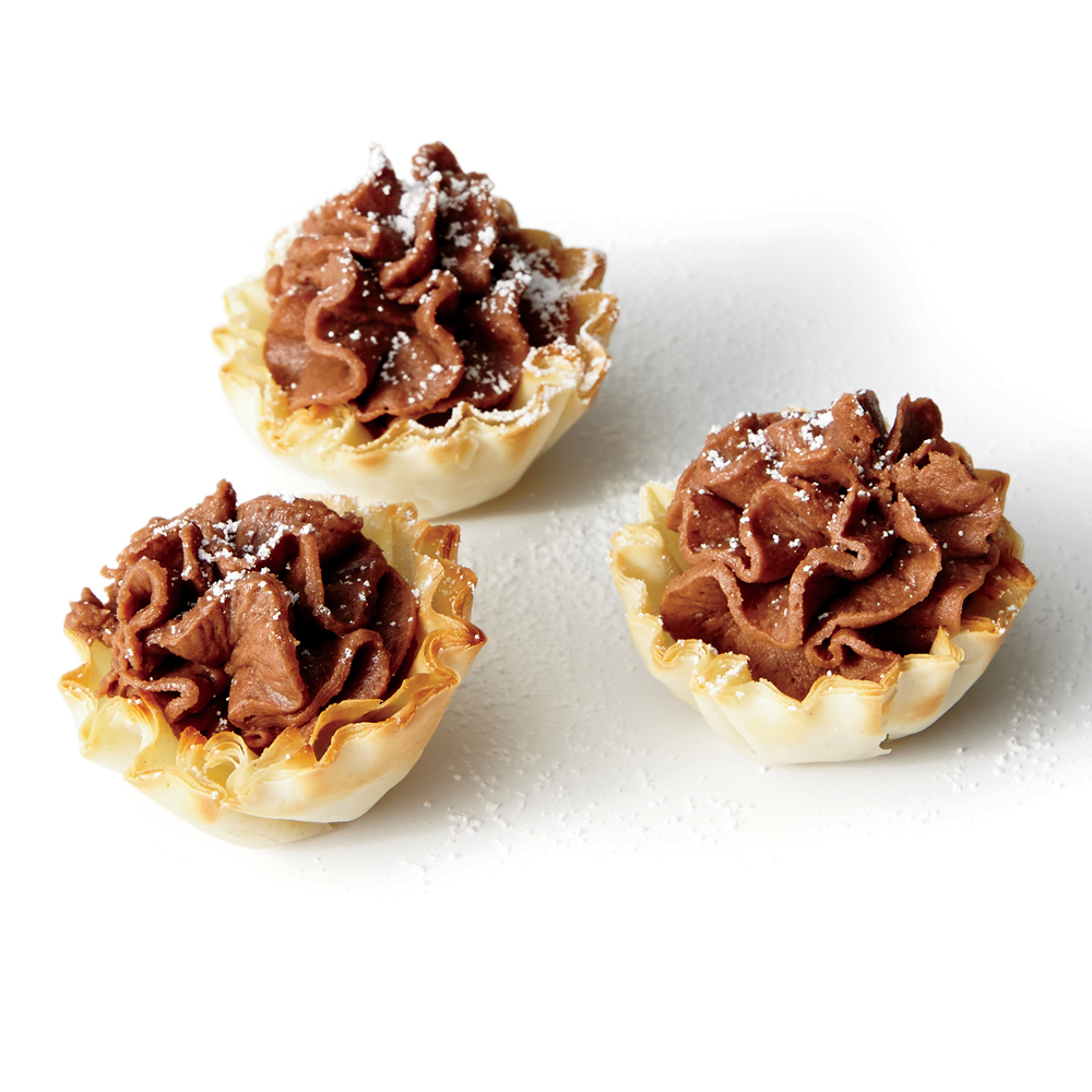 Chocolate-Chestnut Cream Bites