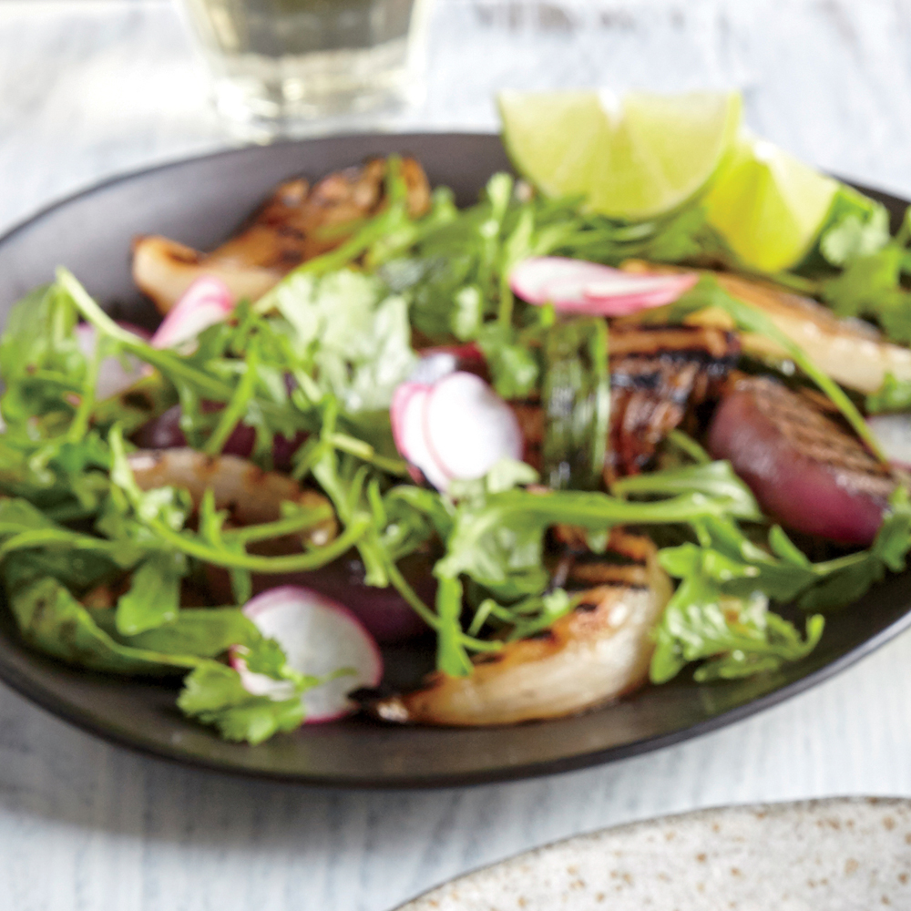 Grilled Onion Salad with Lime Vinaigrette