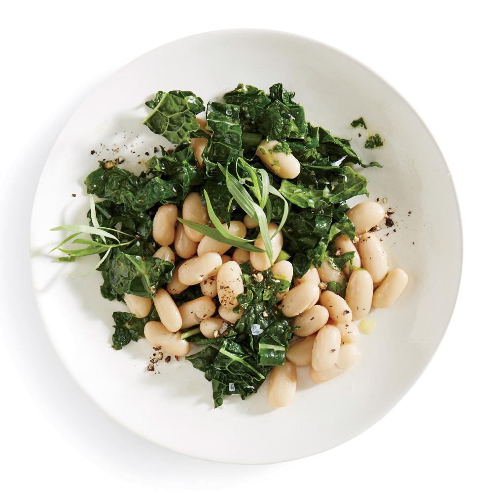 Lemon-Herb White Bean and Kale Salad