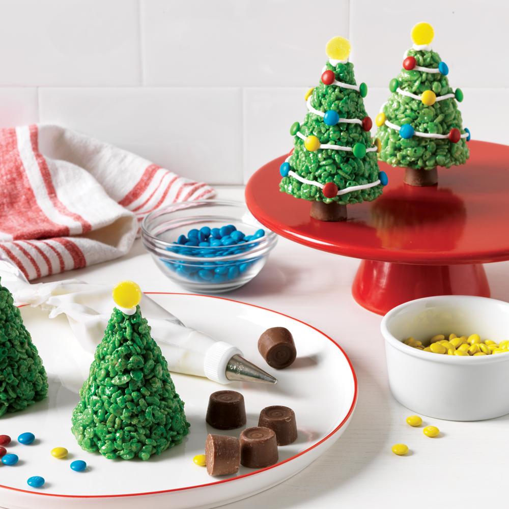Marshmallow-Krispie Christmas Trees