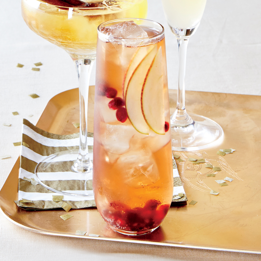 Pear and Pomegranate Bellini