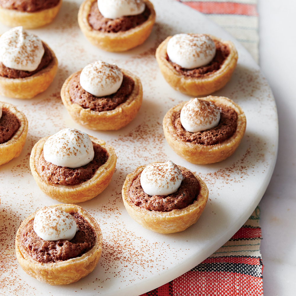 Mini Chocolate Chess Tarts