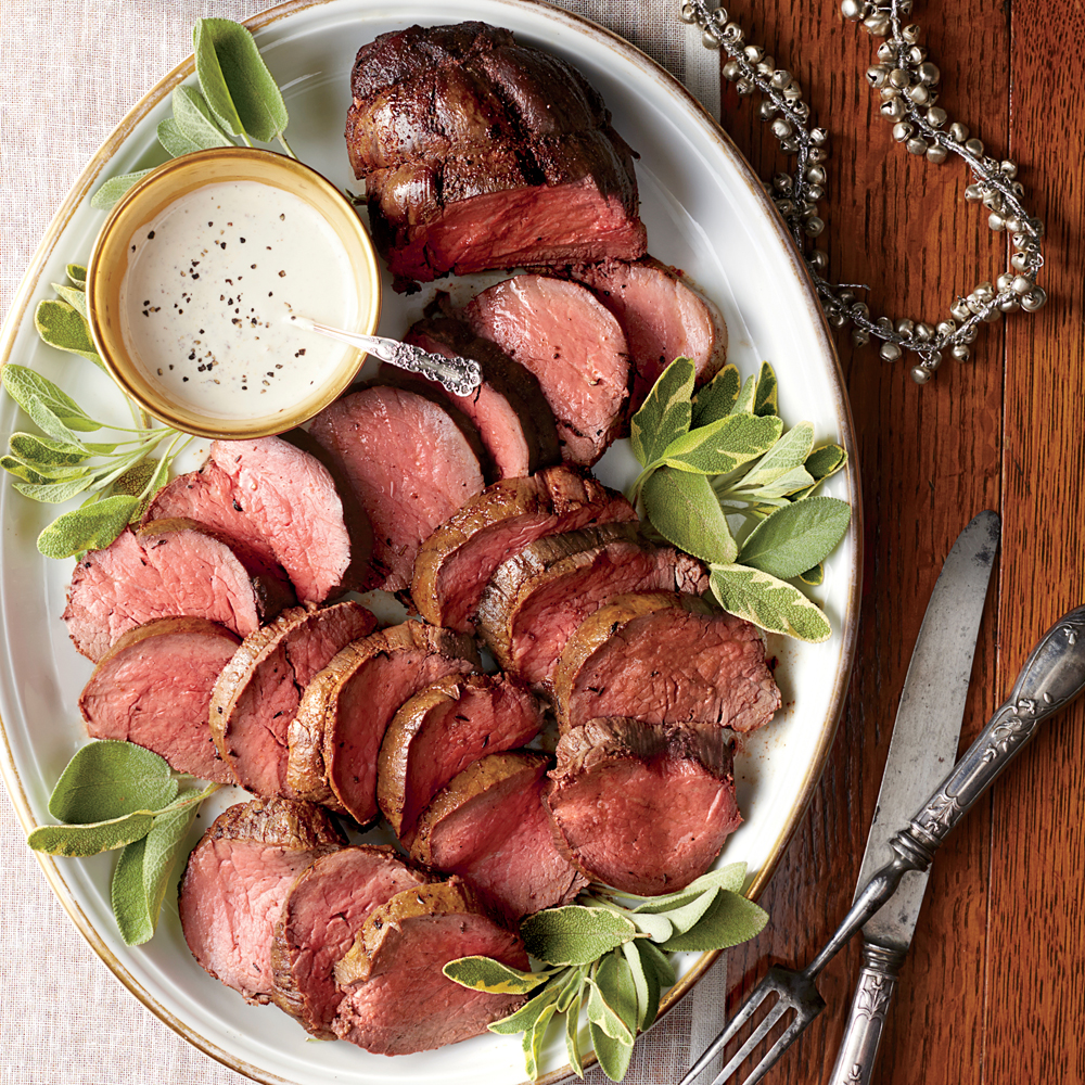 Spice-Rubbed Tenderloin with Mustard-Cream Sauce